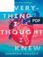 Everything I Thought I Knew by Shannon Takaoka Chapter Sampler