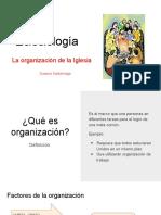 ORGANIZACION DE LA IGLESIA