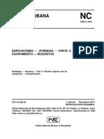 Norma Cubana 1055-5, requisitos para construcion de cocina y equipamiento