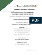Memoria Residencias - Software para el TESOEM.