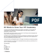 60 Words to Grow Your HR Vocabulary