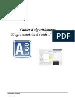 Cahier d'algorithmique avec Algobox