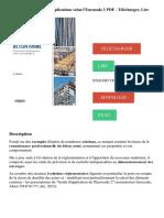 Béton armé_ Théorie et applications selon l'eurocode 2 PDF - Télécharger, Lire