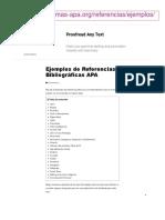 Normas APA para diferentes fuentes