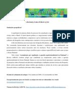 Chamada Dossie Pantanal - Revista AGB TL
