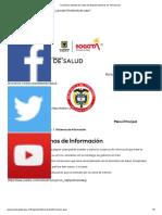 Secretaría Distrital de Salud de Bogotá Sistemas de Informacion