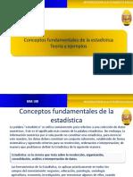 1.Conceptos fundamentales Estadistica
