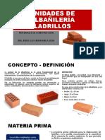 UNIDADES DE ALBAÑILERÍA - LADRILLOS