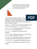 Utilización de la factorización para resolver problemas Polii