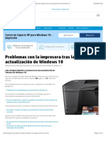 Resuelva los problemas de la impresora HP y los problemas después de las actualizaciones de Windows 10