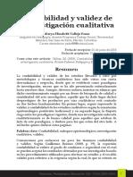 Confiabilidad y validez de la investigación cualitativa