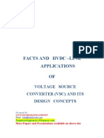 FACTS AND HVDC LINK APPLICATIONS OF voltage source converters and its design