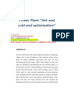"Power Plant ""Hot and cold end optimization"""