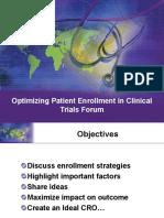 Optimizing Patient Enrollment in Clinical Trials