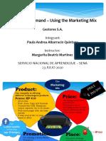 Supply and demand – Using the Marketing Mix - Paula Andrea Albarracin
