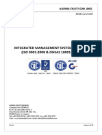 Integrated Management System Manual Iso 90012008 and Ohsas 180012007 KESB