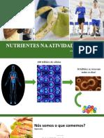 Nutrientes na atividade fisica