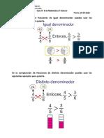 Guía 8 Comparación de Fracciones