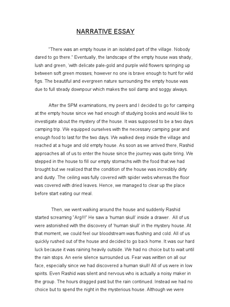 the haunted house essay A haunted house essay (essay sample) instructions: after reading a haunted house by woolf, virginia answer this question are the living couple as much in love as the ghostly couple.