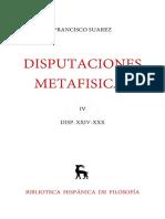 Suárez, Francisco. Disputaciones Metafísicas XXIV-XXX. Edición Bilingüe. Madrid Gredos, 1962. Vol. 4 (2)