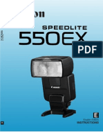 Canon Speedlite 550EX User Manual