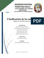 Clasificación de los modelos - Modelo Determinístico