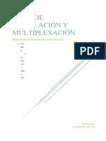Modulación y Multiplexación