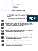 Cuestionario de Desastres Naturales