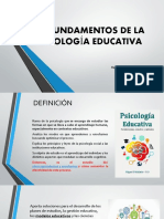 Fundamentos de la Psicología educativa