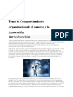 Tema 6. Comportamiento organizacional; el cambio y la innovación