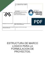 ESTRUCTURA DE MARCO LOGICO