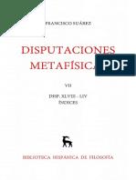 Suárez, Francisco. Disputaciones Metafísicas XLVIII-LIV. Edición Bilingüe. Madrid Gredos, 1966. Vol. 7.pdf