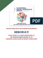 Sekoday Projesi Kurumsal Sosyal Sorumluluk Odulleri 2020