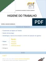 HIGIENE DO TRABALHO Aula 2