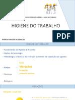 HIGIENE DO TRABALHO Aula 5