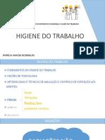 HIGIENE DO TRABALHO Aula 7