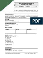 PROCEDURE D'EPREUVES DE CONVENANCE POUR LE BETONNAGE DES PIEUX POUR LES VIADUCS V-010.4 ET V-011.2