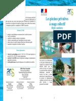 Livret - les règles sanitaires dans les piscines privatives à usage collectif
