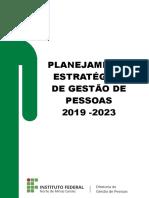 Plano Estratégico de Gestão de Pessoas IFNMG - Versão 2.0