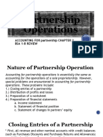 PARTNERSHIP OPERATIONS REVIEW