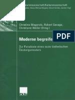Peter Beilharz (auth.), Christine Magerski, Robert Savage, Christiane Weller (eds.) - Moderne begreifen_ Zur Paradoxie eines sozio-ästhetischen Deutungsmusters-Deutscher Universitätsverlag (2007)