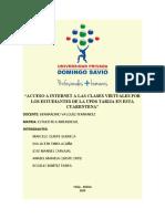 ACCESO A INTERNET A LAS CLASES VIRTUALES POR LOS ESTUDIANTES DE LA UPDS TARIJA EN ESTA CUARENTENA finalizadoo