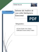 TG3 - INFORME DEL ANALISIS DE CASO SOBRE INTELIGENCIA EMOCIONAL