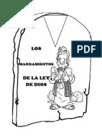 MANUALIDAD LOS 10 MANDAMIENTOS DE LA LEY DE DIOS