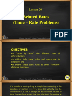 Lesson 20-Related Rates (Time-Rate Problems).ppt