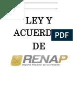 Leyes de Registro Nacional de Las Personas RENAP Público
