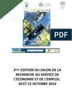 3EME EDITION DU SALON DE LA RECHERCHE AU