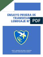ENSAYO PRUEBA DE TRANSICION Nº3 LENGUAJE