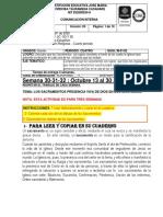 ED. RELIGIOSA ACTIVIDADES SEM   30-31-32   CUARTO PERIODO