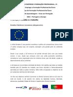 Ficha Informativa A Europa, o cidadao e o trabalho